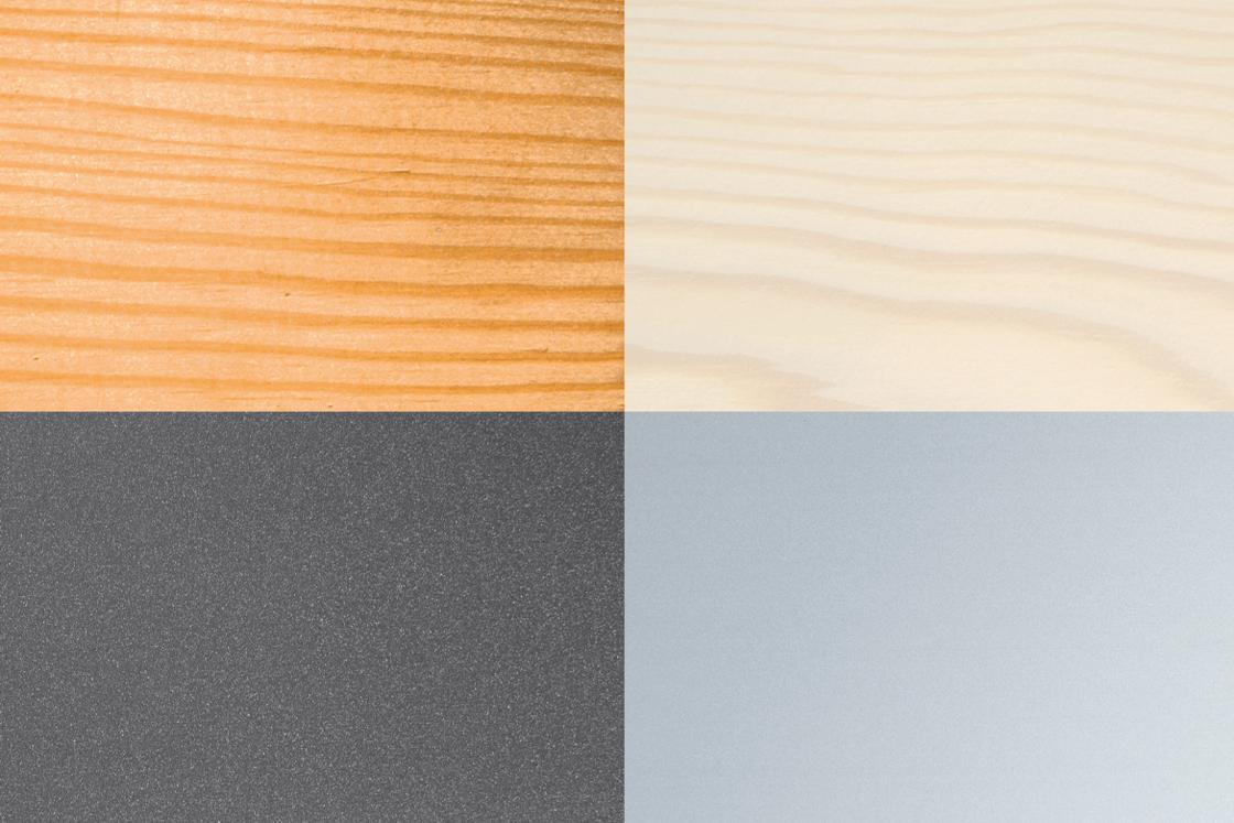 Holzarten und Farbgestaltung