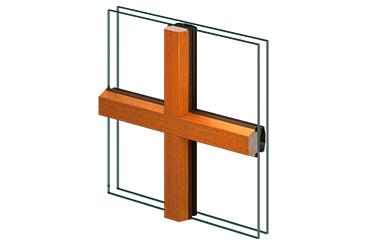 Einseitig aufgesetzte Trapezfalzsprosse/Alu-Sprosse im Scheibenzwischenraum (28 mm)