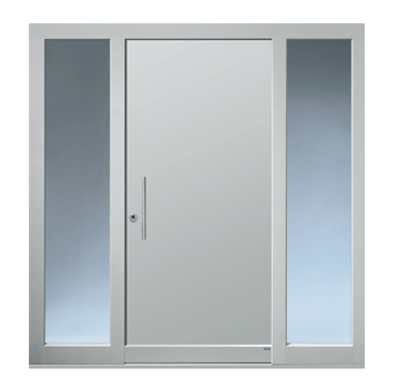 Haustüranlage mit zwei Seitenteilen