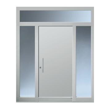 Haustüranlage mit zwei Seitenteilen und Oberlicht