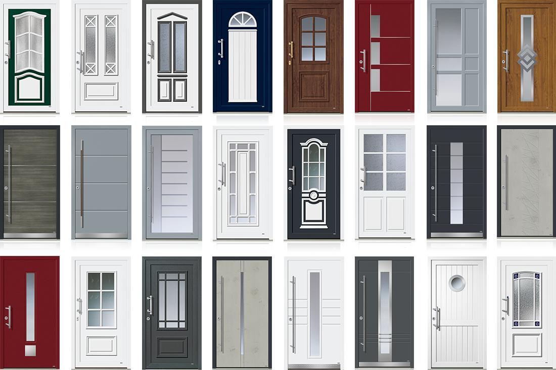 Wählen Sie aus den Designlinien modern und klassik Ihre rekord Kunststoff Haustür.